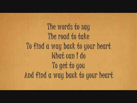 BACKSTREET BOYS - Back To Your Heart [Lyrics]