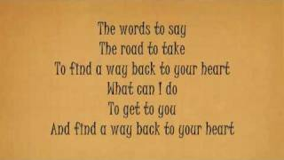 BACKSTREET BOYS - Back To Your Heart [Lyrics]
