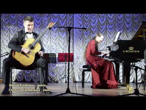 """J. Rodrigo - """"Concierto de Aranjuez"""", M.Kasheutov (guitar), E.Ukrainskaya (piano)"""