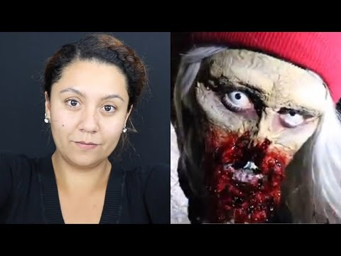 Ripped Zombie Mouth Prosthetic Cosplay Halloween Walking Dead