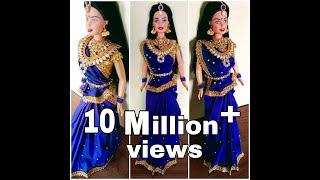 North indian style barbie saree draping barbie saree draping with jewellery