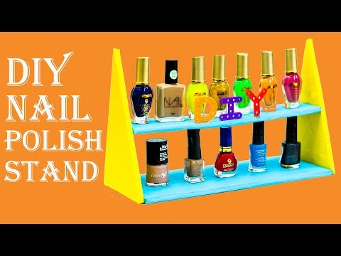 How To Make Nail Polish Organizer | DIY Nail Polish Rack