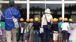 阿蘇市立阿蘇西小学校で防災学習