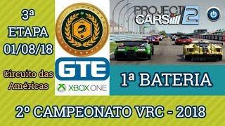 1ª Bateria da 3ª Etapa do 2º Campeonato VRC 2018 - GTE