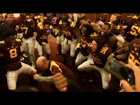 Minnesota coach Jerry Kill put busts a move after Gophers top Penn State