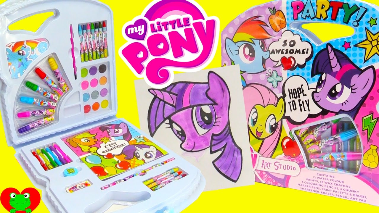Uncategorized My Little Pony Painting Games my little pony art kit water colors painting twilight sparkle and surprises youtube