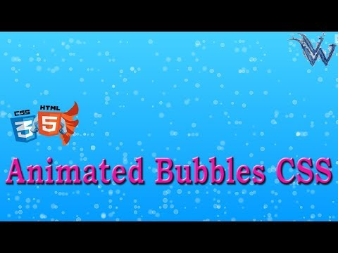 Animated Bubbles Css With Html And Javascript   Cool Css Animation By Amazing Techno Tutorials