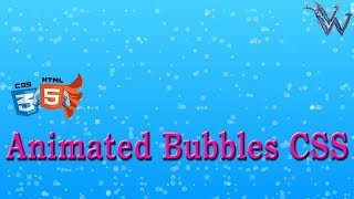 Animated bubbles css With html and Javascript | cool css animation By Amazing Techno Tutorials