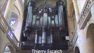 Magnificent Pipe Organ Improvisation - St. Etienne du Mont - Thierry Escaich