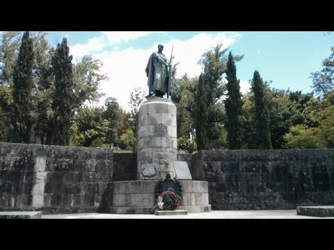 Statue of D. Afonso Henrique (King Afonso I of Portugal) in Guimares, Portugal