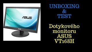 dotykov  monitor ASUS VT168H - UNBOXING & TEST (1080p) (60FPS)