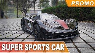 90 km/h on Gasoline RC Car ( Rovan ROFUN F5 ) sports car