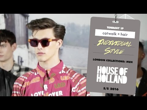 Catwalk hair: individual style at House of Holland for London Collections Men SS16