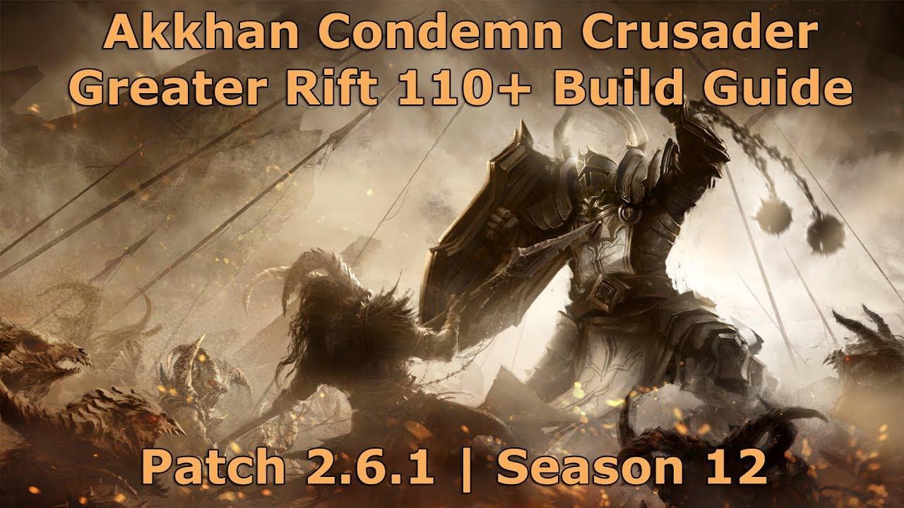 Diablo  Crusader Build Greater Rift