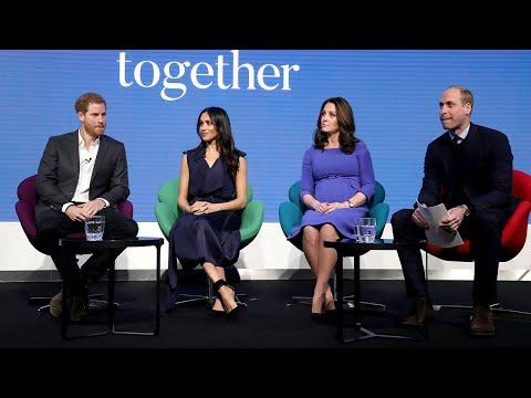 Royal 'fab four' reunite for mental health campaign