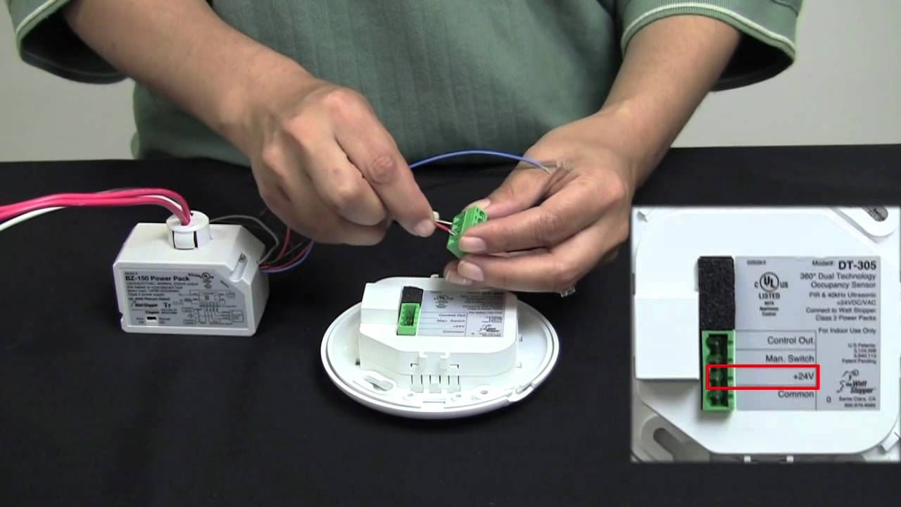 Wattstopper  How To  Wiring A Dt-305 Dual Technology Ceiling Sensor