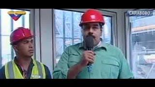 Maduro inspecciona planta de concreto y asfalto en Guacara, estado Carabobo