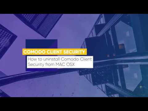 Lesson 17: How to uninstall Comodo Client Security from MAC OSX