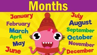 Months of the Year Song | Learn the 12 Months | Kindergarten, Preschool & ESL | Fun Kids English