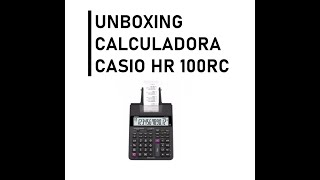 Como usar Casio HR 100RC CALCULATOR UNBOXING screenshot 2