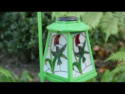 Compass Home Solar Stained Glass Lantern on QVC