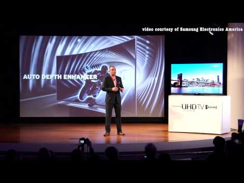 Samsung unveils Ultra High Def Curved tv & its 2014 home product line