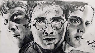 Drawing Harry Potter, Ron Weasley, Hermione Granger || Jasmin