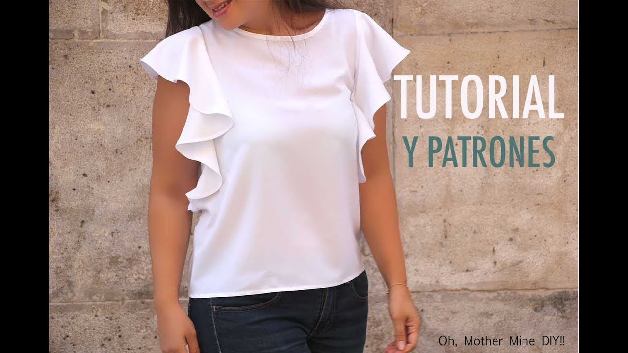 161235682 Como hacer blusa con volantes en 18 minutos (patrones) - YouTube