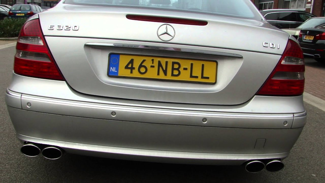 mercedes e320 cdi w211 amg exhaust sound uitlaat. Black Bedroom Furniture Sets. Home Design Ideas