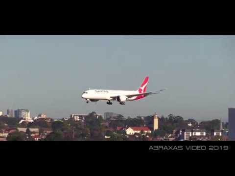 Qantas Project Sunrise Research Flight From JFK - Arrival At Sydney - 20 October 2019