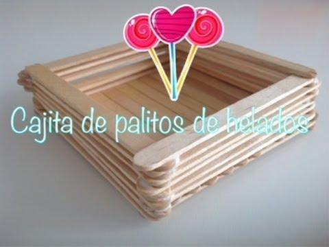 Como hacer cajita de palitos de helados youtube - Como hacer una caja de madera paso a paso ...