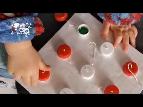 Развивающая игрушка своими руками / Развитие мелкой моторики / DIY Пташечка [Поделка из картона]