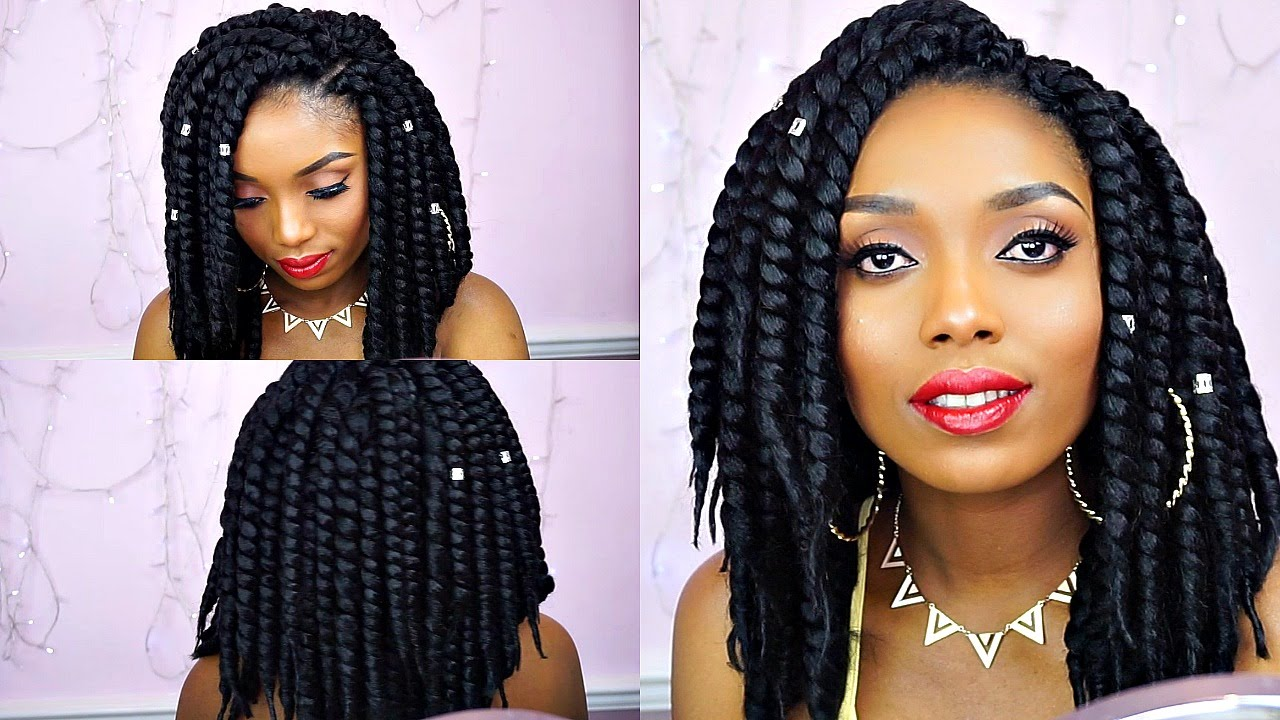 How To Crochet Havana Jumbo Twist Tutorial Ft Deda S Hair