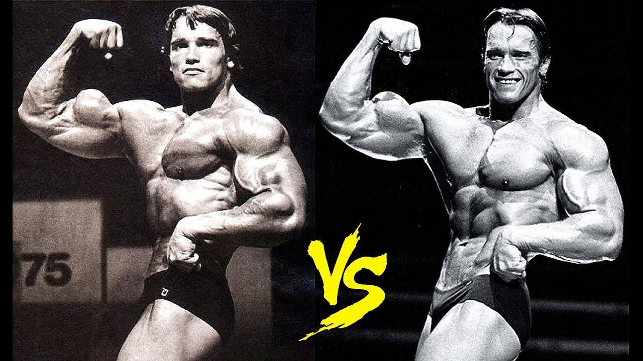 Arnold Schwarzenegger : 1975 Mr. Olympia vs. 1980 Mr ...