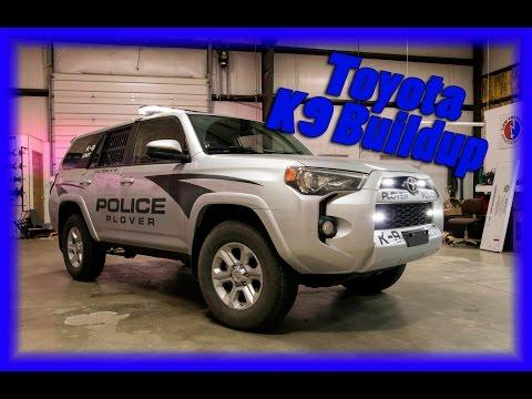 Toyota 4 Runner Police K9 Squad for Plover Wisconsin