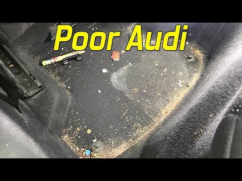 Cleaning The FILTHY Interior On My Audi A3