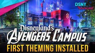 MARVEL LAND Theming Begins at Disney California Adventure - Disney News - 1/21/20