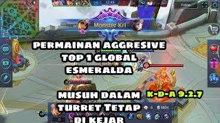 Permainan Aggresive G-Din Gaming Top 1 Global Esmeralda. | Mobile Legends: Bang-Bang