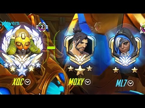 THE DREAM TEAM - xQc, Moxy, ML7, Codey, and Yeatle Play Overwatch