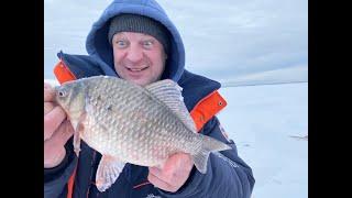 Карася мешок на мормышку в феврале Супер рыбалка оз Уелги