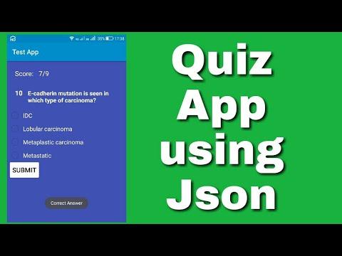 A quiz app using Json String in Sketchware