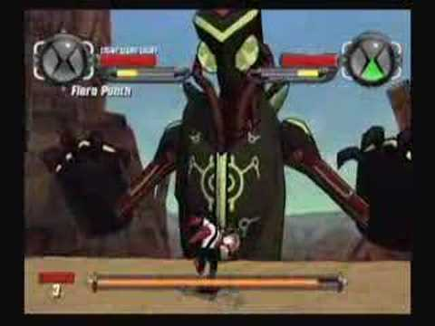 Ben 10 Video Game Wii boss coop battle! Travel Video