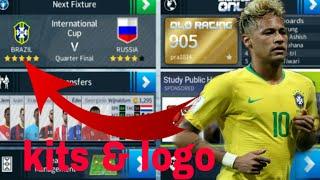 How to Create Brazil National Team Kits & Logo | Dream League Soccer 2018