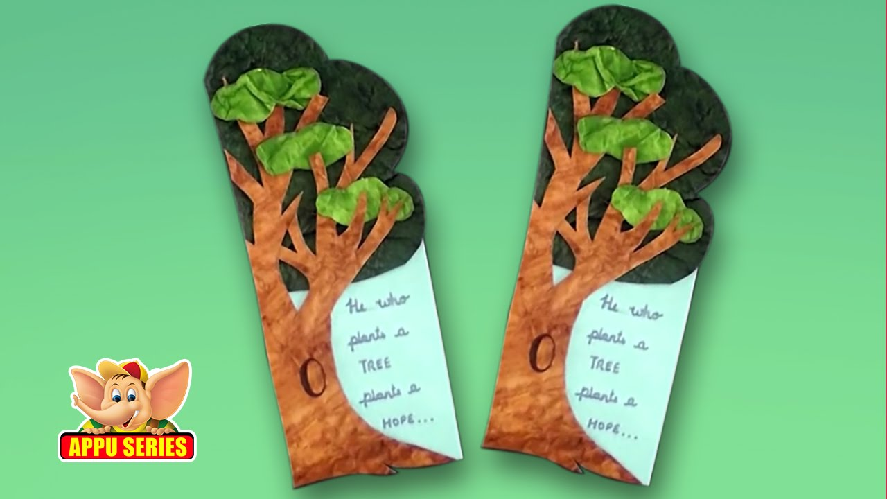 Make a bookmark save a tree youtube for Best out of waste environment