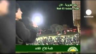 Defiant Gaddafi appears on Libyan TV