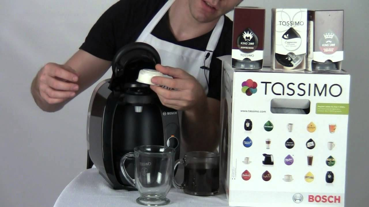 Electronic Bosch Tassimo T20 Coffee Machine review tassimo t20 coffee machine youtube