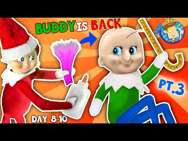 BALDI Elf on the Shelf gets New HAIRDO! Days 8, 9 & 10 (FUNnel Fam Christmas Vision)