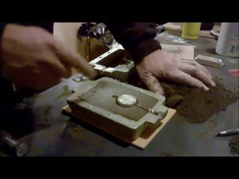 Making a pewter medallion