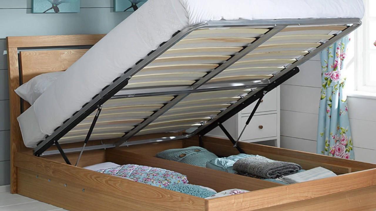 wood storage bed frame with drawers designs youtube. Black Bedroom Furniture Sets. Home Design Ideas