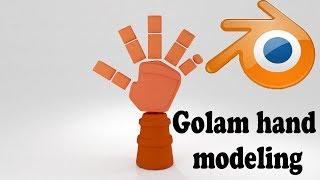 blender tutorial  modeling golem hand